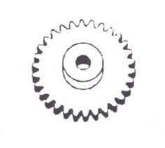 Stirnzahnrad mit Nabe aus Messing (Modul 0,4)