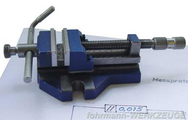 Miniatur Maschinenschraubstock mit verstellbarem Anschlag