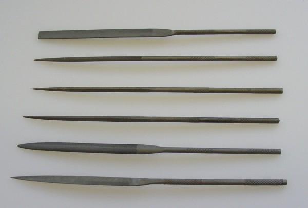 Nadelfeilen verschiedene Typen und Hieb (einzeln)