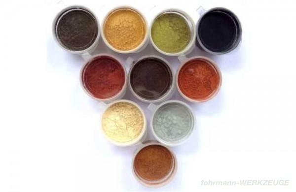 Kit de 10 couleurs de peinture en poudre