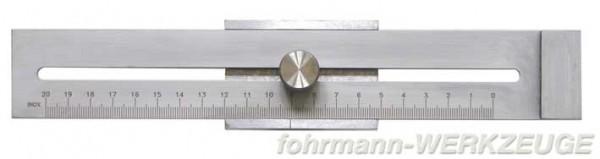 Streichmaß mit Anreißmessschieber Messbereich 200 mm