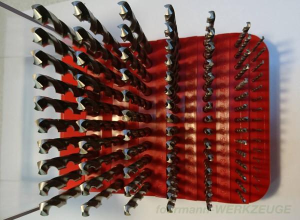 SET: 91 x HSS Spiralbohrer DIN 388 mit Kunststoff-Ständer