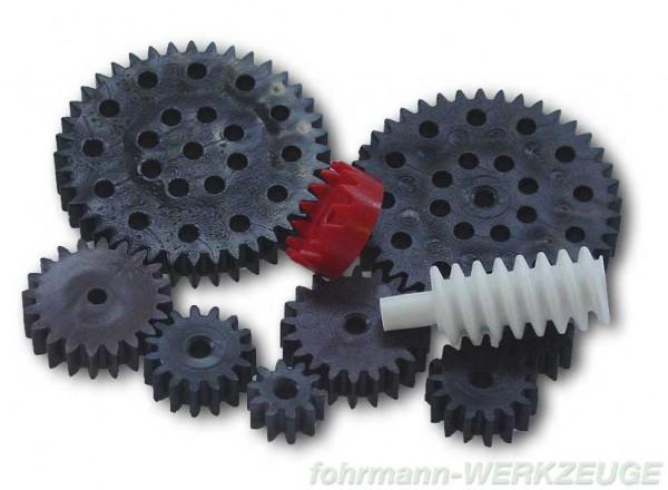 Zahnräder Set aus Kunststoff (Modul 1)