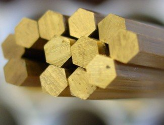 Hexagon bar of brass