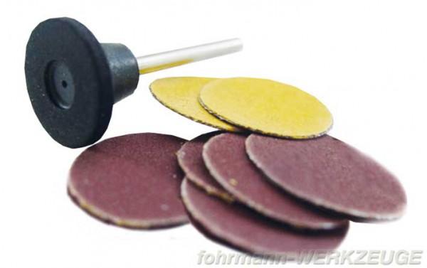 Gummiträger und Schleifblätter