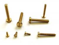 Zylinderschrauben mit Schlitz aus Messing DIN 84 für Modellbau