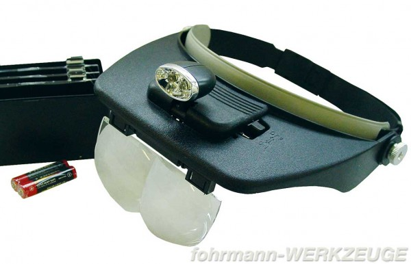 Kopfbandlupe mit LED Scheinwerfer