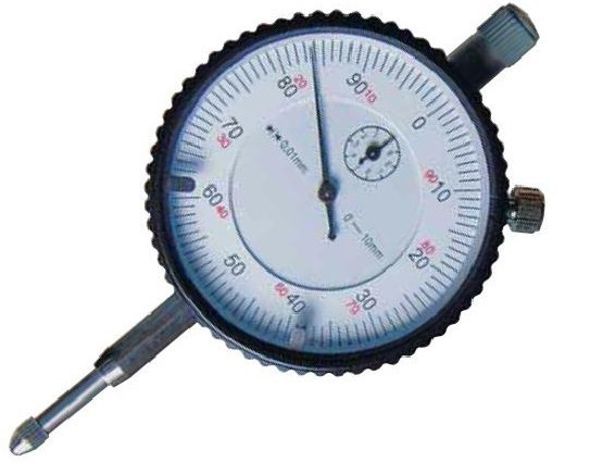 Messuhr mit Messbereich 10 mm (Aufnahme Ø 8 mm)