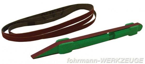 Schleifstab und Ersatz-Schleifbänder