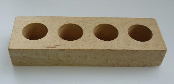 Holzständer (für Glühlampenlack)