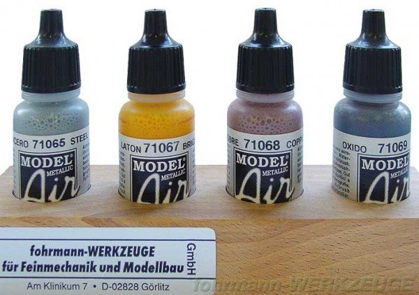 SET: Acrylfarben Vallejo Metallfarben