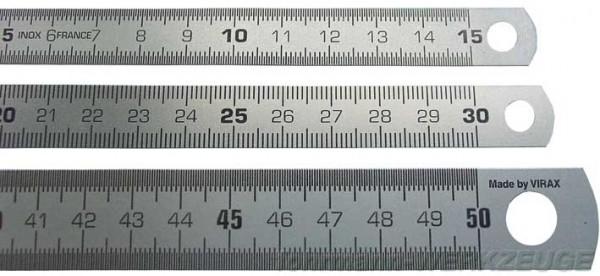Stahlmaßstäbe (Stahllineale) rostfrei versch. Längen