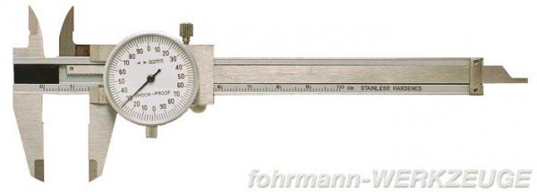 Kleiner Präzisions-Uhrmessschieber 100 mm DIN 862